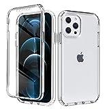 Yoedge Funda para Apple iPhone 12 Mini 5,4',360 Grados Doble Cara Claro Carcasa,PC Dura Bumper + TPU Silicona Case con Antigolpes Protectora,Pantalla Protector Cover para iPhone 12 Mini,Transparente