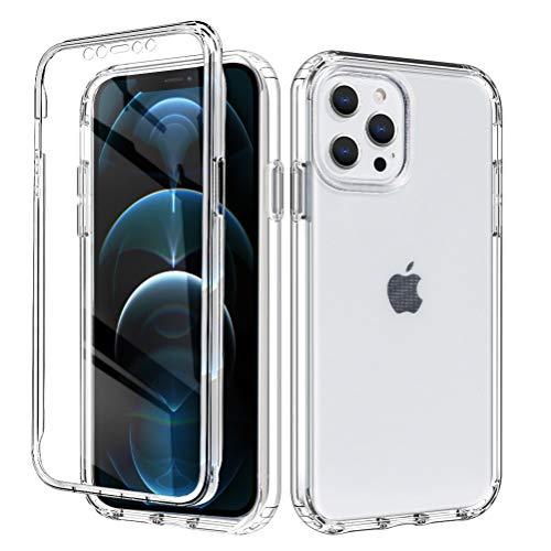 Yoedge para iPhone 7 Plus / 8 Plus 5,5' Fundas, 360 Grados Doble Cara Claro Carcasa, PC Dura Resistente Bumper + TPU Silicona Antigolpes Protectora Case Cover para iPhone 7 Plus, Transparente