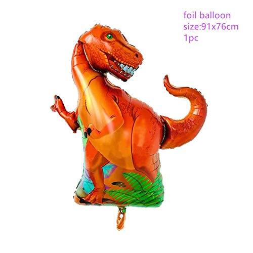 CTOBB dinosaureer-thema-feestservies verjaardagsfeestdecoratie kinderen volwassenen papieren borden cup tafelkleed balloons straw feestbenodigdheden, 1 stuks folieballon 1