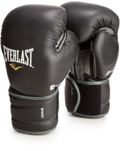 Everlast ProTex3 Hook & Loop Training Gloves 14oz, Black