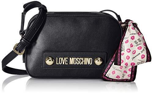 Love Moschino Unisex-Erwachsene Jc4027pp18lc0000 Kuriertasche, Schwarz (Nero), 15x6x22 centimeters