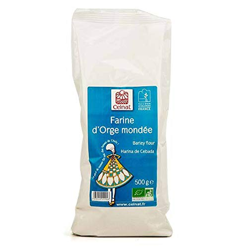 CELNAT - Farine D'Orge Mondé Bio 500G - Lot De 4