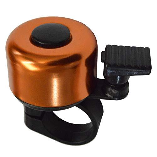 KIDDIMOTO Mini Kinderfahrradklingel mit klarem Klang für Roller, Dreirad, Kinderfahrräder und Laufräder - Orange