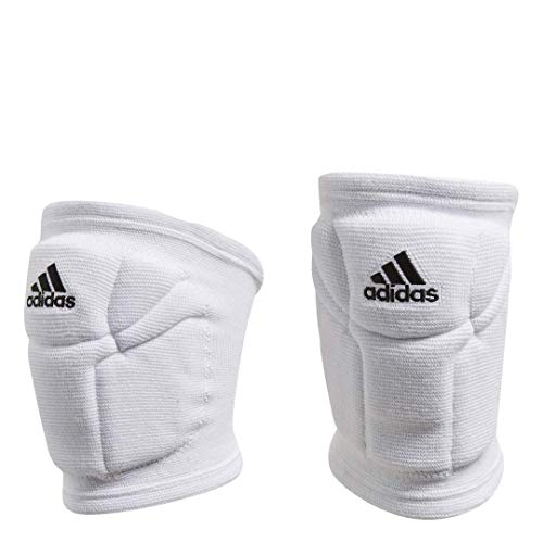 adidas Elite Volleyball Performance Knee Pads Compression Fit, White/Black, Small