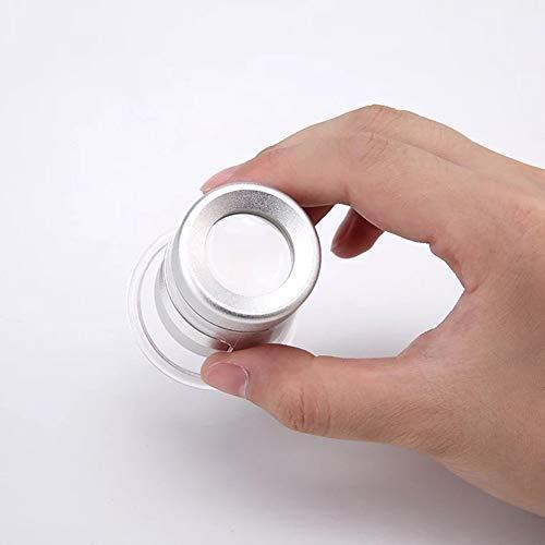 Gloednieuw, hoge kwaliteit HD handheld vergrootglas 10x oude man leesboek identificatie stempel munt oud schilderen hoge vergroting draagbare compacte luidspreker spiegel LED verlichting HD draagbaar