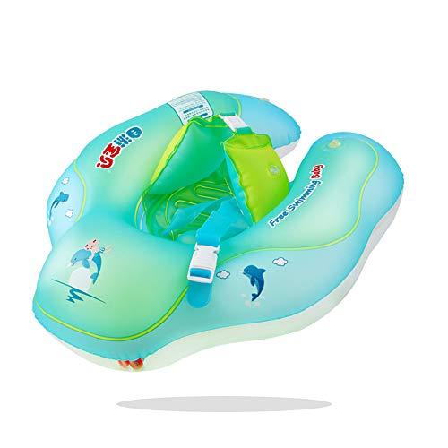 JTMML Anillo De Flotador De Natación para Bebé Inflable, Anillo De Flotador De Cintura para Niños Flotadores Inflables Juguetes De Piscina Duraderos Inflables, para Bebés De 6 A 36 Meses De Edad,XL