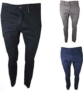 2ba07a1519fa27 Guy Pantaloni Uomo Slim Fit Aderente Elasticizzati Vita Bassa in Cotone  Estivi Taglia 46 48 50