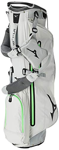 Mizuno K1 L0 Stand Bag, Light Grey Neon Green