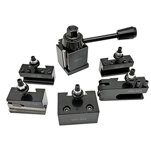 Kmoon 6 Stk. 250 Uniform Typ Schnellwechsel Werkzeughalter Drehstahlhalter Werkzeug Set mit 6-9