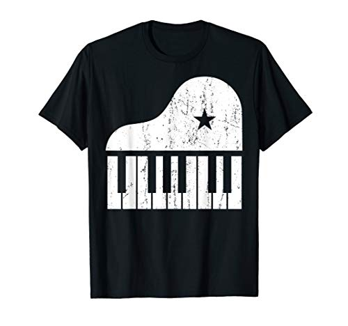 Grand Spinet Piano Player Design, Simple Grunge Pianist Gift T-Shirt