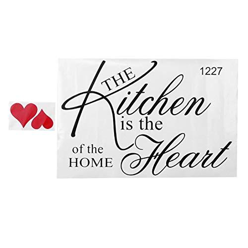 Emoshayoga Etiqueta de la Pared Adhesiva Etiqueta de la Pared Adhesivo removible Etiqueta de la Pared de la Cocina a Prueba de Moho Durable Cocina Sala de Estar de Metal para decoración del hogar