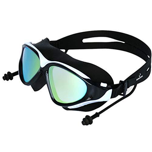 Floridivy BOIHON Erwachsener Schwimmen Surfen Earplug Brillen Frauen Männer BOIHON Erwachsene Brille, Bade Anti-Fog Galvani Brille UV-Schutz Schwimmbrille