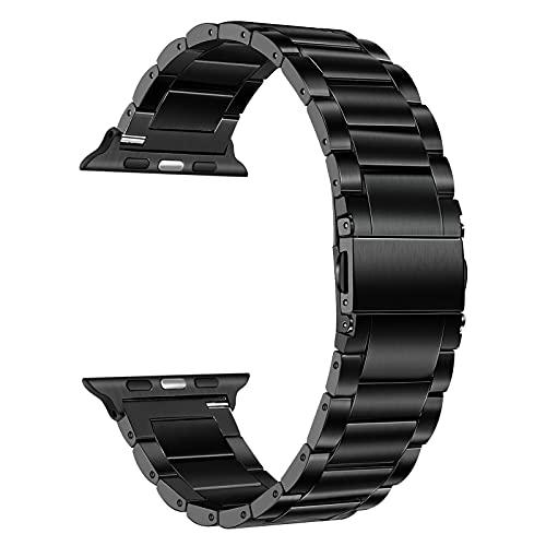 TRUMiRR Sostituzione per Apple Watch Series 6/SE 44mm 42mm Cinturino in Titanio, Bracciale in Metallo Acciaio al Titanio Cinturino per Orologio Sportivo per iWatch Apple Watch SE Series 6 5 4 3 2 1