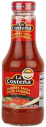 La Costena Taquera Salsa - Hot, 16-Ounce Bottle (Pack of 2)