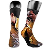 AsakawaKoutarou Freddie Mercury christmas gifts Moda Unisex Estampado Algodón Transpirable Deporte Casual Socks Calcetines Long Calcetines Thick Calcetines
