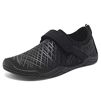 CIOR Boys & Girls Water Shoes Quick Drying Sports Aqua Athletic Sneakers Lightweight Sport Shoes Toddler/Little Kid/Big Kid  DKSX-Black-36