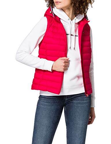 Tommy Hilfiger TH ESS LW Down Vest Chaleco con Forro, Rosso, XS para Mujer
