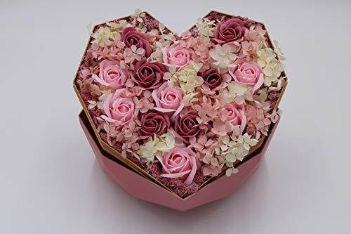 Luxury Flower Box,Preserved Flowers,soap Flowers ,Flower Gift,Flower Arrangement Box,Everlasting Rose,Forever Rose Box,Mother Gift,Perfect Present for Girlfriend, Fiancee, Anniversary,Valentines Day Silk Flower Arrangements