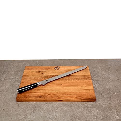 Kai Shun Classic - Cuchillo jamonero DM-0735, hoja de 30,5 cm de acero de damasco y tabla de cortar...