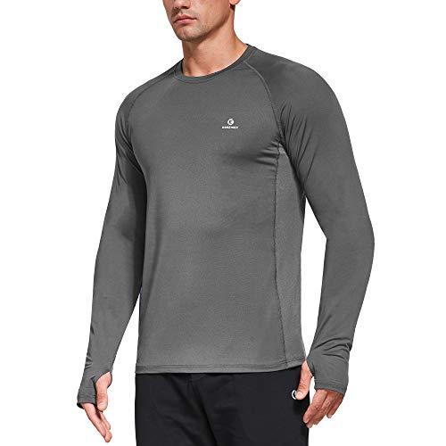 Ogeenier Secado Rápido Camiseta Manga Larga Hombre Camiseta Deporte Running Gimnasio Hombre