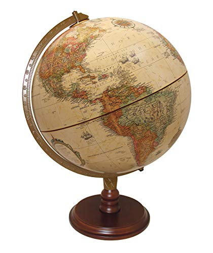 """Replogle Lenox, 12""""/30cm diameter Antique Style, Desktop Globe, Classic World Globe with up-to-date Cartography, Made in USA"""