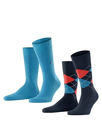 Burlington Herren Everyday Mix 2-Pack M SO Socken, blau (Poolside 6692), 40-46 (2er Pack)