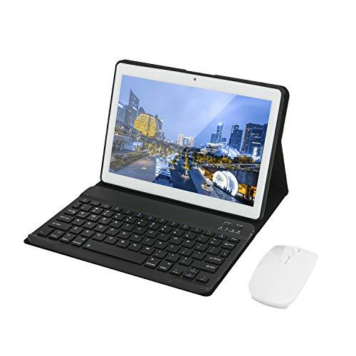 HOTREALS, tablet Android da 10,1 pollici, tablet quad-core, sistema operativo Android in 9 parti, 4 GB di RAM, 64 GB di ROM, 3G WiFi, Bluetooth, GPS, tipo C, batteria da 8000 mAh (bianca)