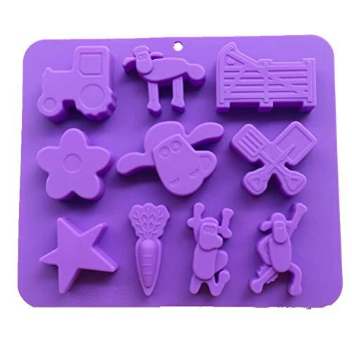 FENXIMEI Siliconen Bakvorm, Chocolade Mallen & Snoepvormen, voor Cupcakes, Muffins, Zeep en Brownies Bakvormen 100% Silicone
