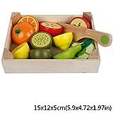 PENG Juego clásico de Madera Simulación Serie de Cocina Juguetes Cortar Frutas y Verduras Set Juguetes Montessori Regalos de educación temprana
