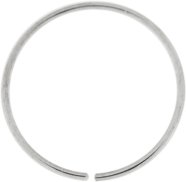 22G 8 mm Diameter 9ct Solid Rose Gold Twisted Seamless Continuous Hoop Ring Nose Piercing Jewellery