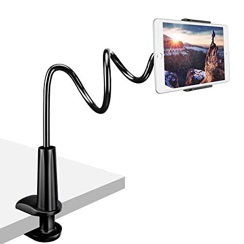 Zoeley Soporte Tablet, Soporte para Teléfono Móvil Multiángulo Flexible con Cuello de Cisne Brazo, Soporte Móvil para iPad Serie/iPhone/Huawei/Samsung/Nintendo Switch/Mediapad Kindle Fire HD