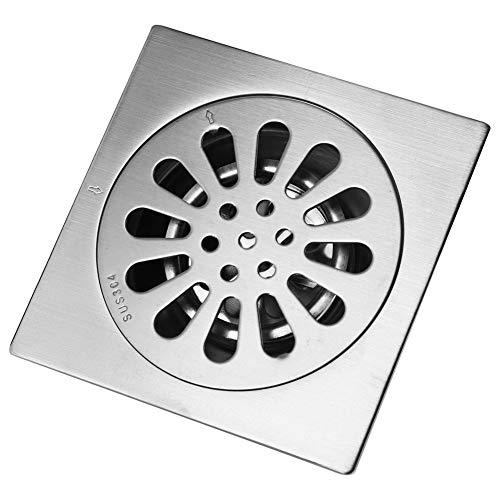Doucheafvoer van 3,5 inch met afneembare vuilvanger, roestvrij staal, haarfilter, voor badkamer-vloerafvoer, snelle waterafvoersnelheid, voor keuken, badkamer, garage, kelder, schroefdraadadapter