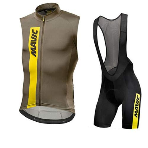 Hplights Maillot Ciclismo Hombre sin Mangas Transpirable
