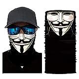 hangong Pasamontaas bufanda facial multifuncional polaina de cuello para hombres bufanda de esqueleto robot bufanda de sol UV polvo viento diadema Joker pasamontaas para ciclismo pesca esqu caza moto