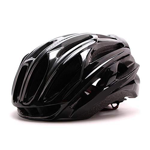 Casco Bicicleta Yuan Ou Casco de Ciclismo de Carreras Ultraligero Casco de Bicicleta MTB Moldeado integralmente Deportes al Aire Libre Casco de Bicicleta de Carretera de montaña L (57-63) Negro