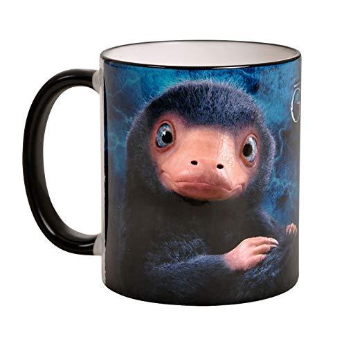 Elbenwald Phantastische Tierwesen Tasse Baby Niffler Motiv Rundumdruck Keramik 320 ml blau