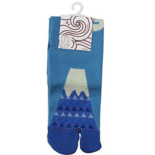 Kaya Damen-Socken von Mt. Fuji, Triangel-Design