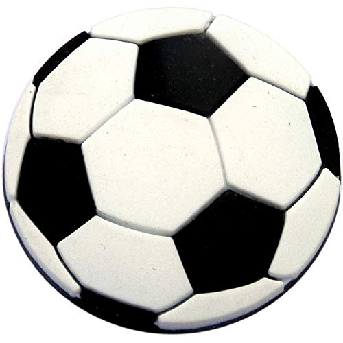 Soccer Ball Rubber Charm for Wristbands and Shoes
