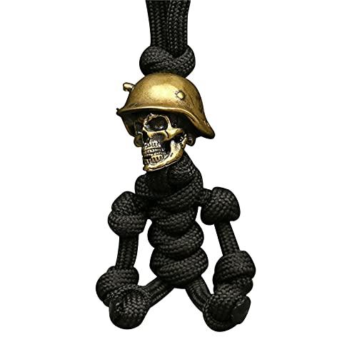 Colgante gótico con máscara de demonio, cuerno demonio, collar de acero inoxidable, diseño de calavera, bisutería para hombre
