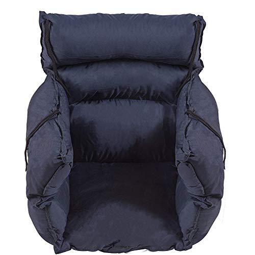 DMI Comfort Wheelchair Cushion, Wheelchair Seat Cushion, Total Wheelchair Pillow, Recliner or Chair Cushion, Navy