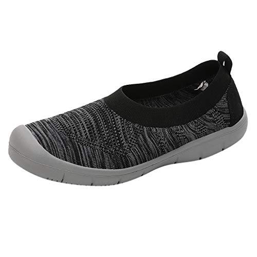 MRULIC Wanderschuhe Damen Slip-On Pumps Fashion Sneakers Casual Flexible Socken Schuhe Bequem und Atmungsaktiv Turnschuhe
