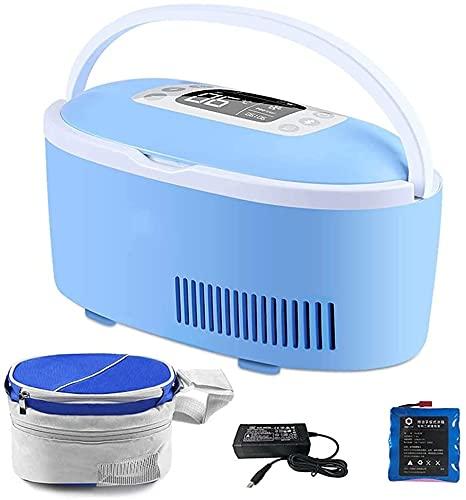 NYZXH Caja de Enfriador de insulina con batería de Litio, la Mini refrigerador, la batería con Motor se Mantiene 2-8  Trabajando libremente Las 24 Horas continuamente con el Adaptador de automóviles