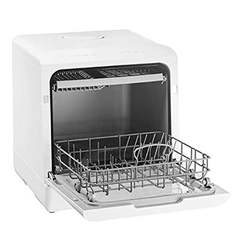MNSSRN Lavastoviglie Completamente Automatica, Mini lavastoviglie con 5 programmi, lavastoviglie Desktop 72 Ore di freschezza duratura