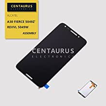 SEEU. AGAIN Fit T-Mobile Revvl Replacement LCD Display Touch Screen Digitizer Glass Assembly Compatible Alcatel A30 Fierce 5049Z / T-Mobile Revvl 5049W 5.5 inch (NO Frame Bezel)
