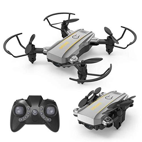 Mini Drone, batería de 500 Mah tiene una batería de larga duración de 5-8 minutos, por lo que puede disfrutar de la diversión de jugar tanto como sea posible, los brazos son plegables, de tamaño