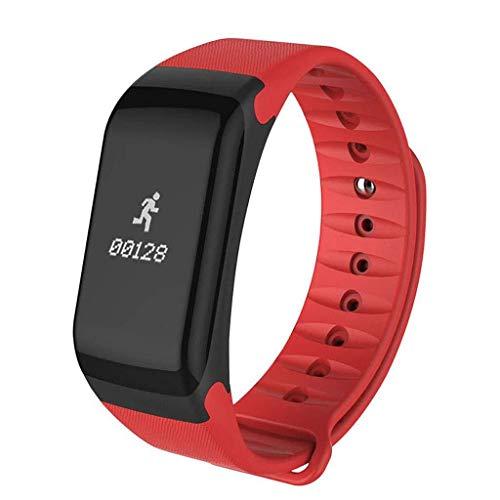 Lg-jz Smart Watch Sport Watch Uomo e Donna Impermeabile Multifunzione Pedometro Blood Pressure Running Heart Running Braccialetto Intelligente (Dimensioni : Rosso)