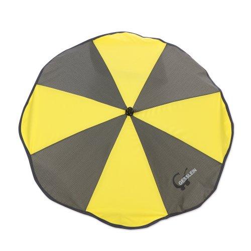 Sonnenschirm mit Universalhalterung von Gesslein – Sonnenschutz für Kinderwagen & Buggys│70cm Durchmesser, biegsam, für Rund- und Ovalrohre
