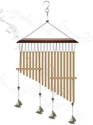 CestMall Campanas de Viento, Long Wind Chimes Outdoor, 18 Tubos de Aleación de Aluminio Campanas de Viento para, Regalo de cumpleaños de la decoración del balcón del Patio Interior del jardín
