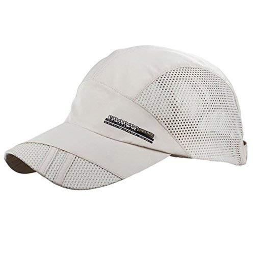 LUFA Sommer-Breathable Mesh-Baseballmütze Sport, schnelltrocknende Hüte für Männer beige
