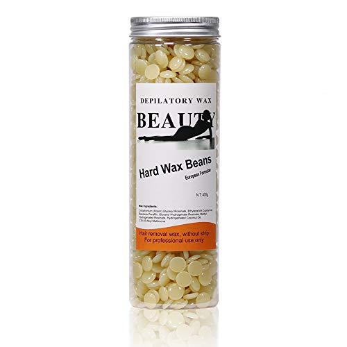 RoseFlower® 400g de Cire à épiler Cire Dépilatoire Perles,Haricot de cire Epilatoire pour le Corps Bikini épilation, Hot Film Hard Wax Pellet Waxing 400g 100 Bâton de cire gratuit(miel)#6